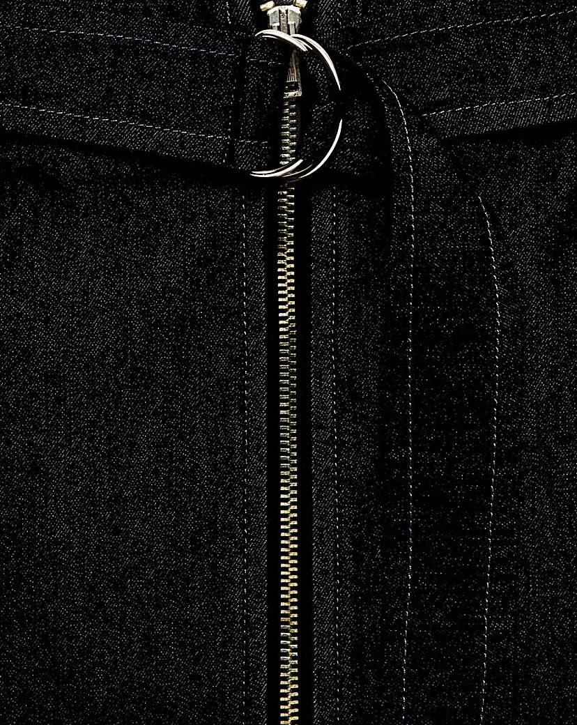Image of Simply Be Denim Zip Skirt