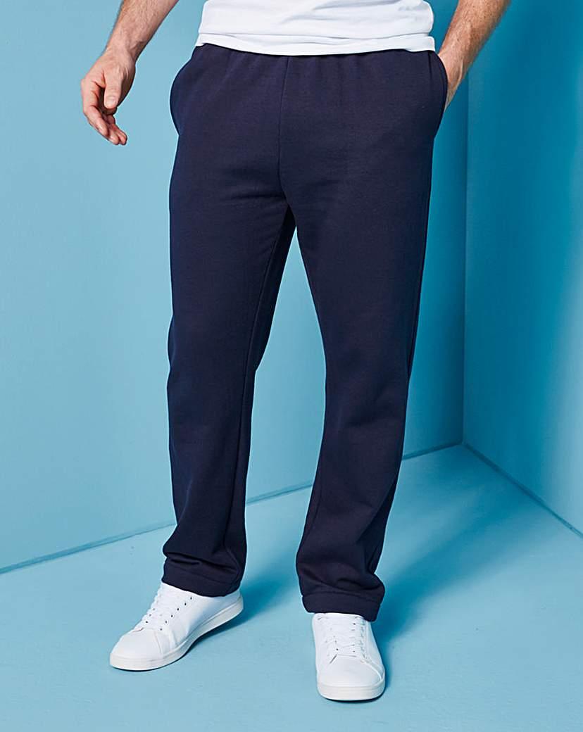 Capsule Navy Straight Hem Jog Pants 29in