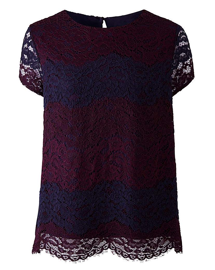 3 Colour Lace Top