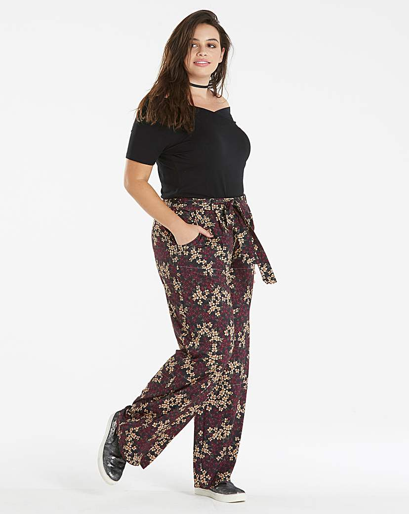 Floral Jersey Wide Leg Trouser Short