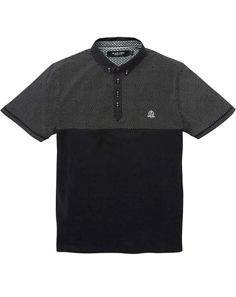 Black Label Spot Panel Polo Regular