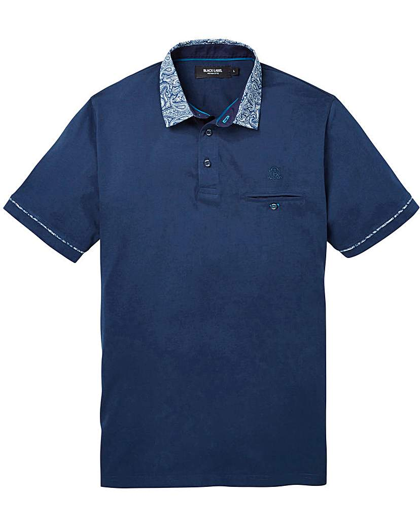 Black Label Pattern Collar Polo R