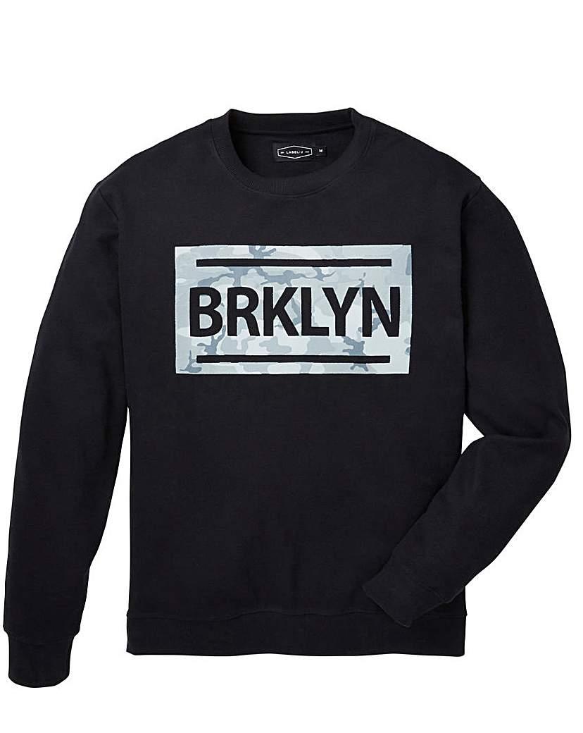 Image of Label J Brooklyn Print Crew Sweat