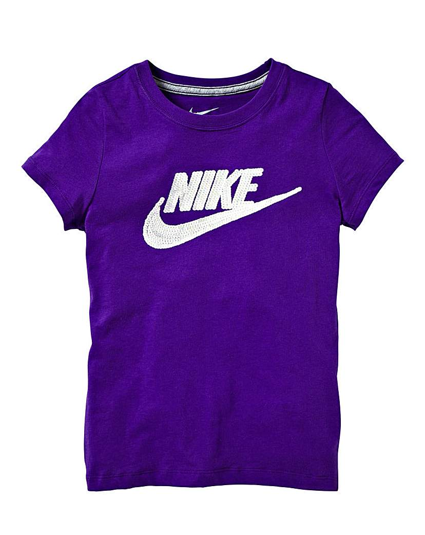 Nike Bling Logo Girls TShirt