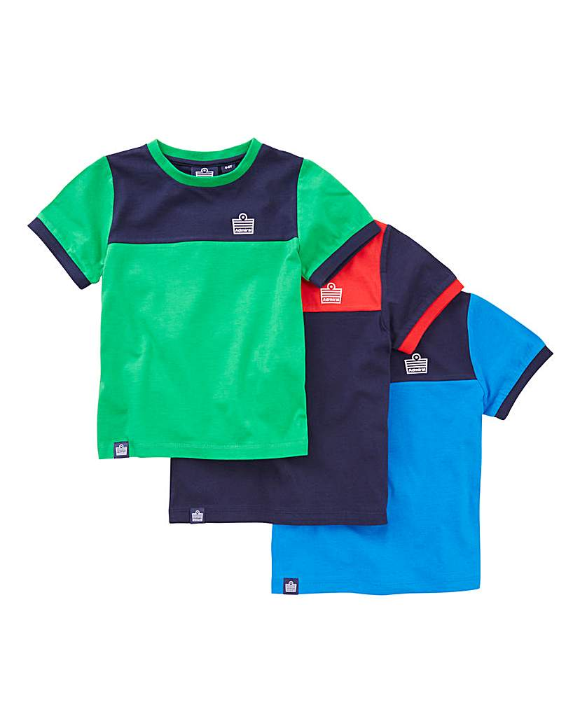 Image of Admiral Boys Pack of 3 T-shirts