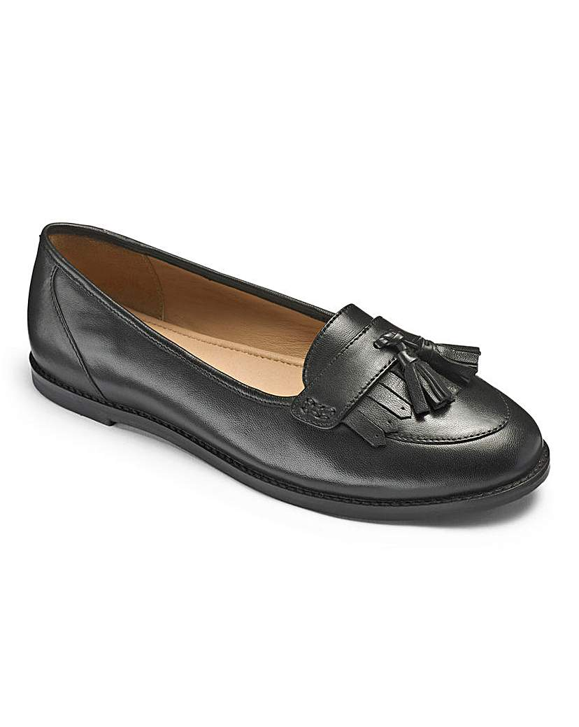 Girls 'Betty' Black Shoes Wide Fit