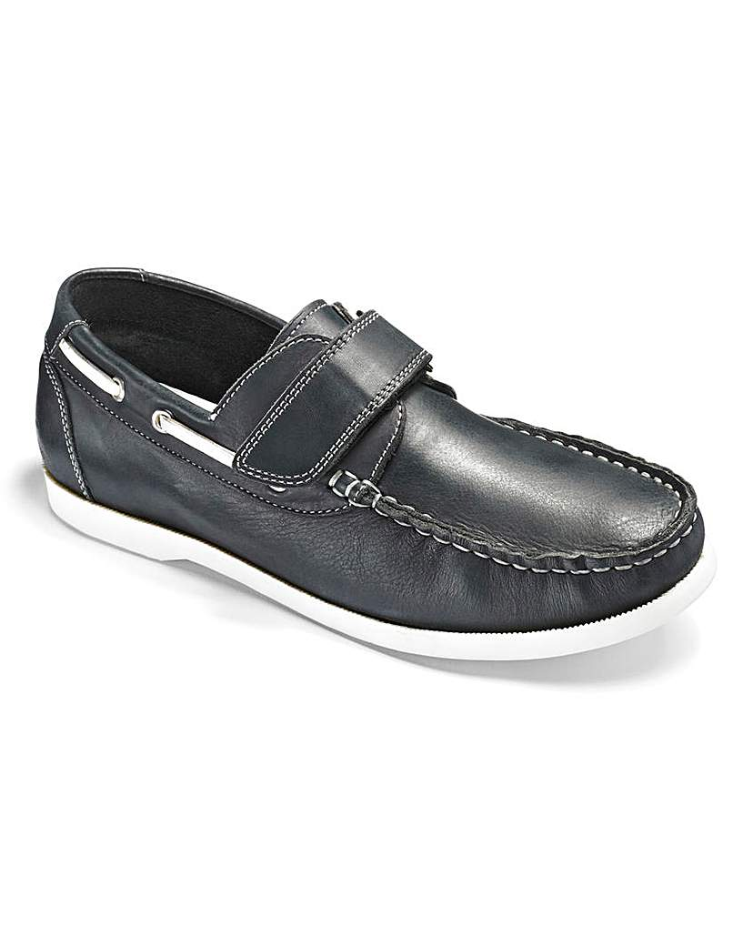Image of Boys 'Archie' Boat Shoes Standard Fit
