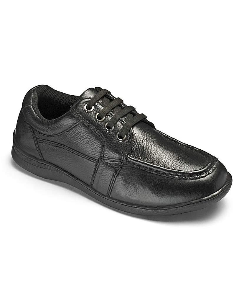 Image of Boys 'Jacob' Black Shoes Standard Fit