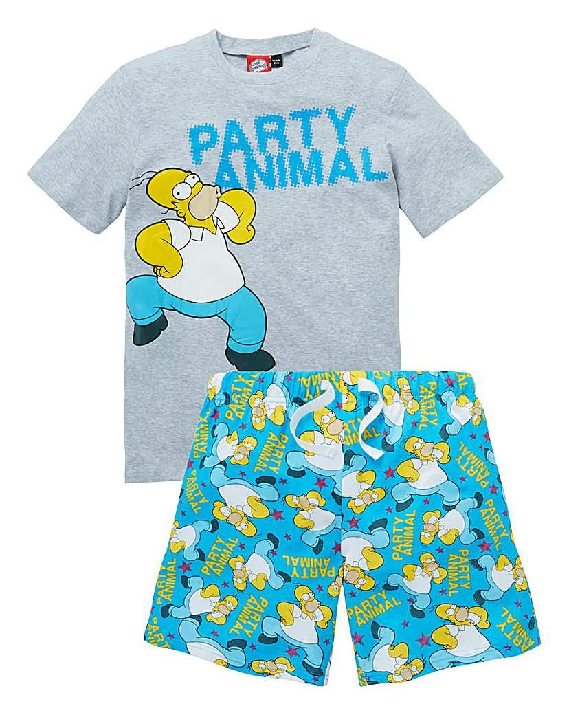 Simpsons Pyjama Short Set