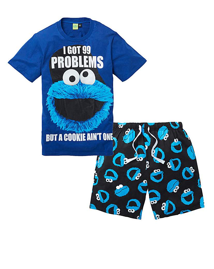 Cookie Monster Pyjama Short Set