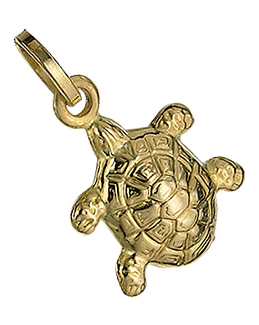 9 Carat Yellow Gold Turtle Charm