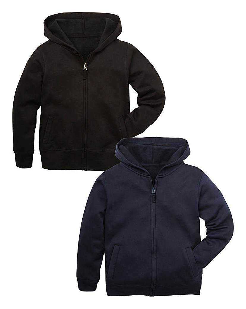 TKD Boys Pk 2 Full Zip Hoodies 714YRS