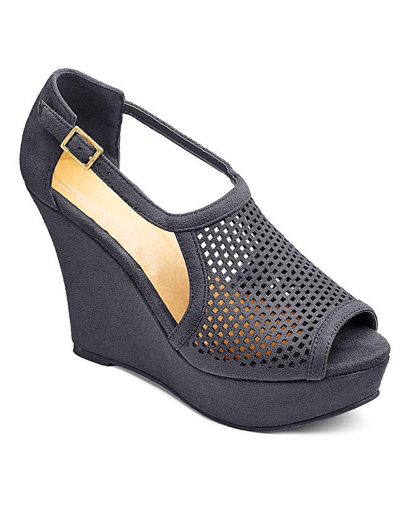 Sole Diva Punch Detail Wedge EEE Fit