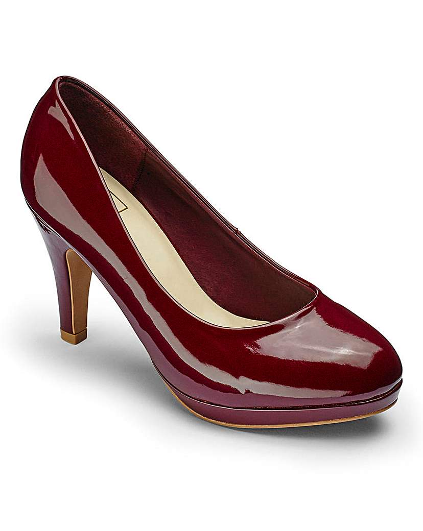 Sole Diva Platform Court Shoes EEE Fit.