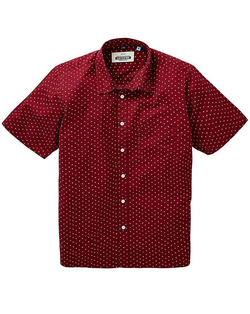Image of Jacamo S/S Geo Print Shirt Regular