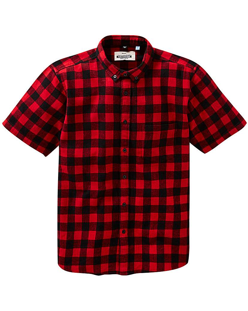 Jacamo S/S Buffalo Check Shirt Regular