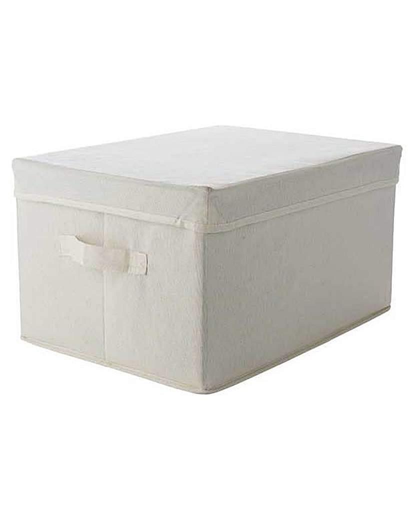 Single Fabric Drawer Storage Box - Cream