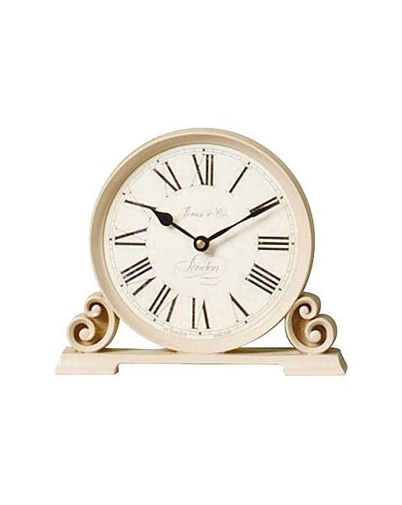 Image of Jones Cream Decorative Mantel Clock