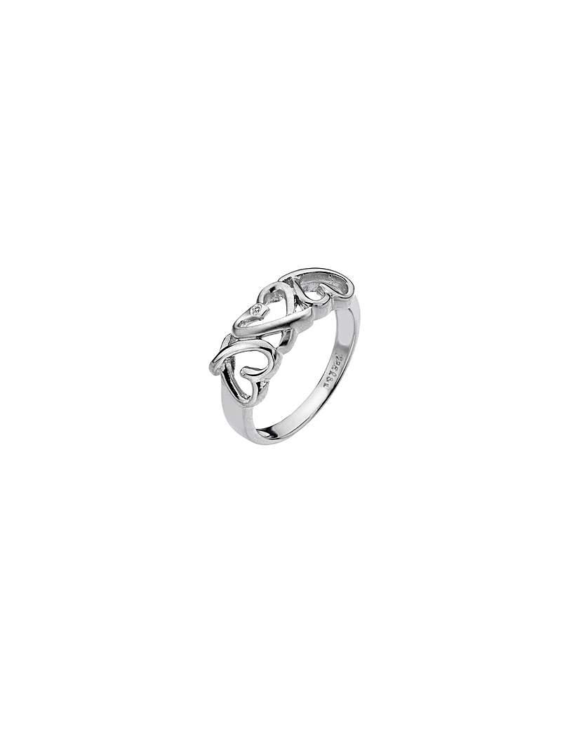 Lily & Lotty Juliette Silver Heart Ring