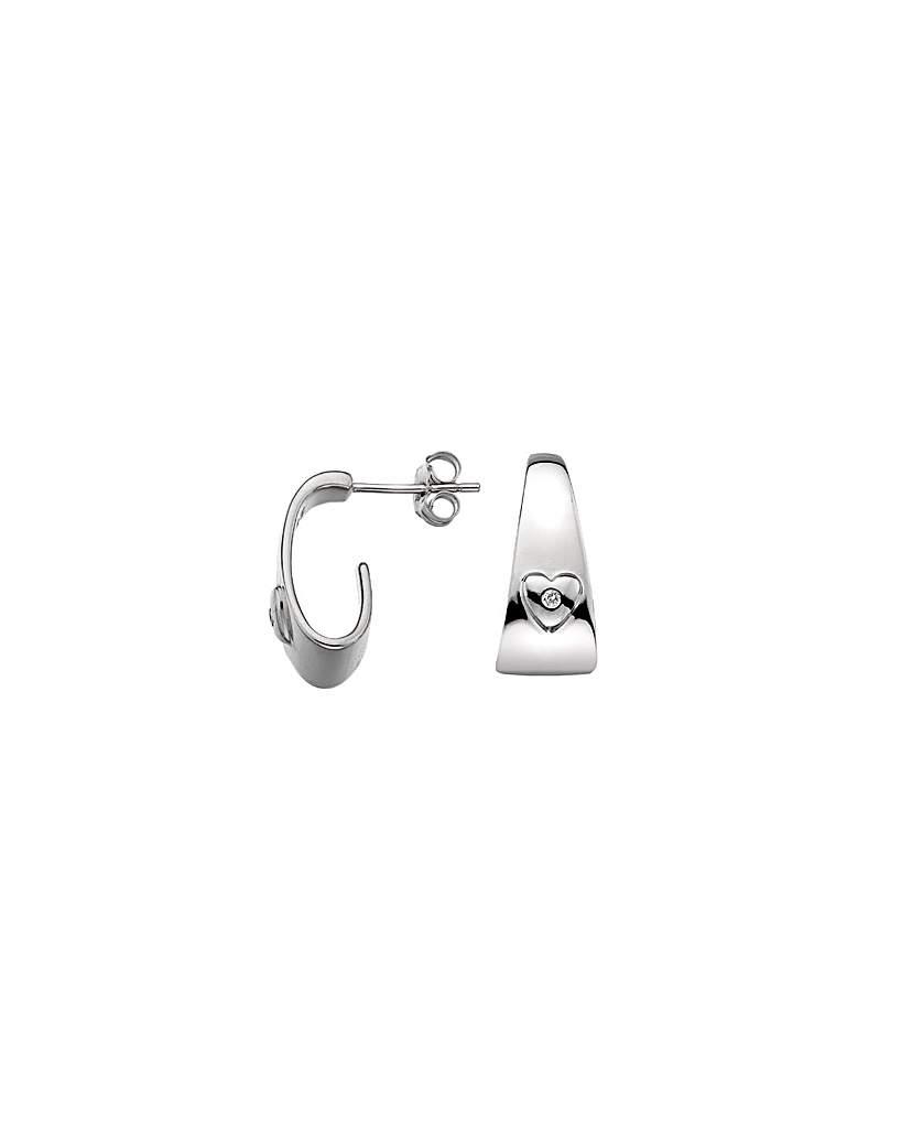 Lily & Lotty Fay Silver Hoop Earrings