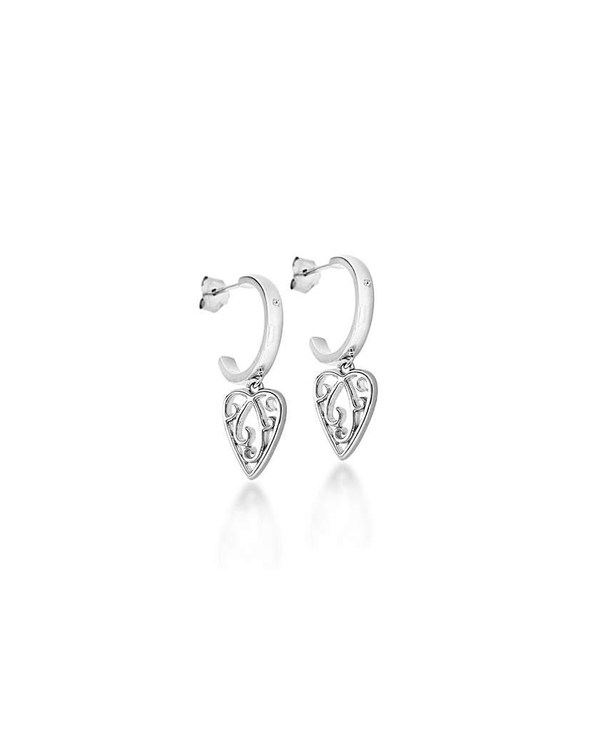 Lily&Lotty Aimee Silver Drop Earrings