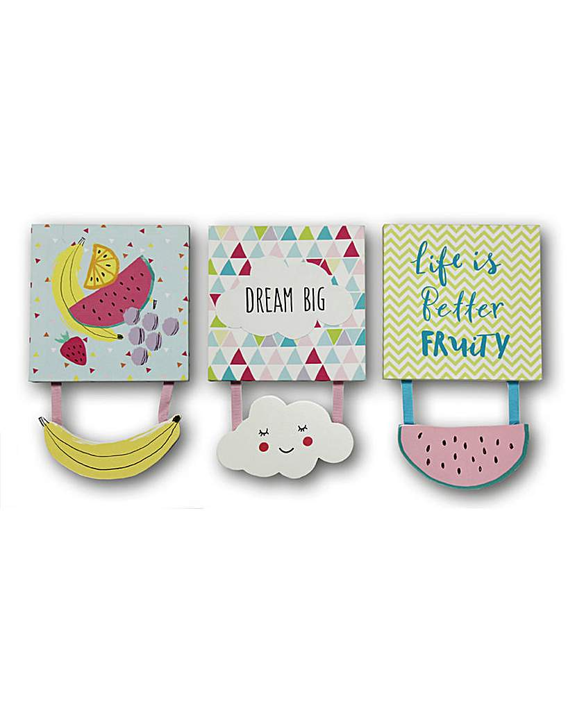Image of Dream Big Canvas Set of 3