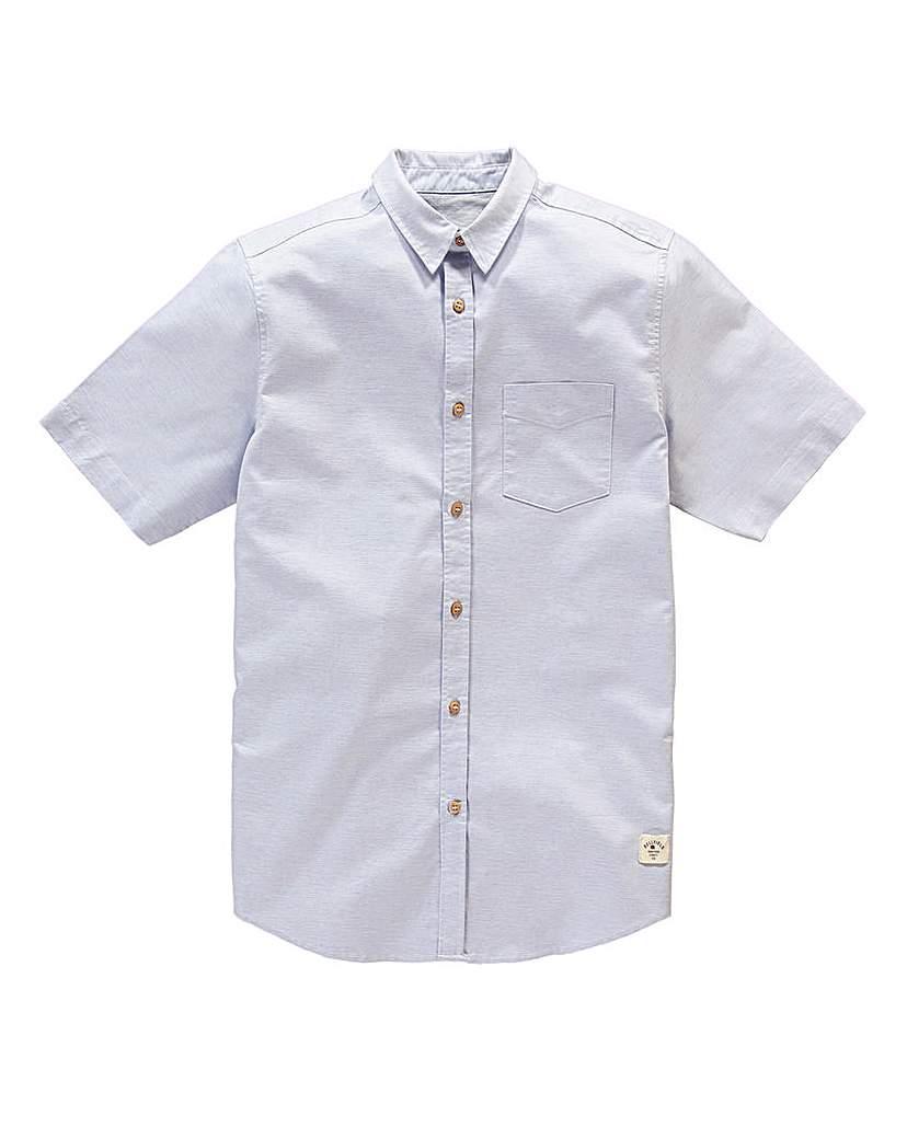Image of Bellfield Short Sleeve Slub Shirt