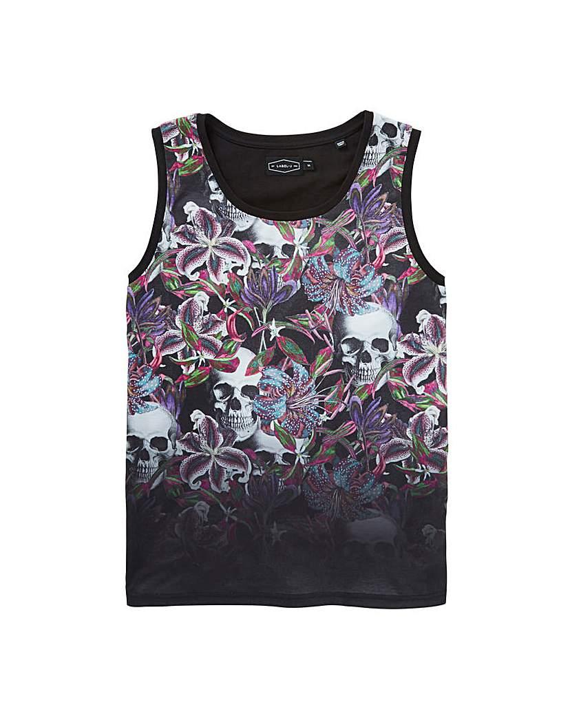 Label J Floral Dip Vest Long
