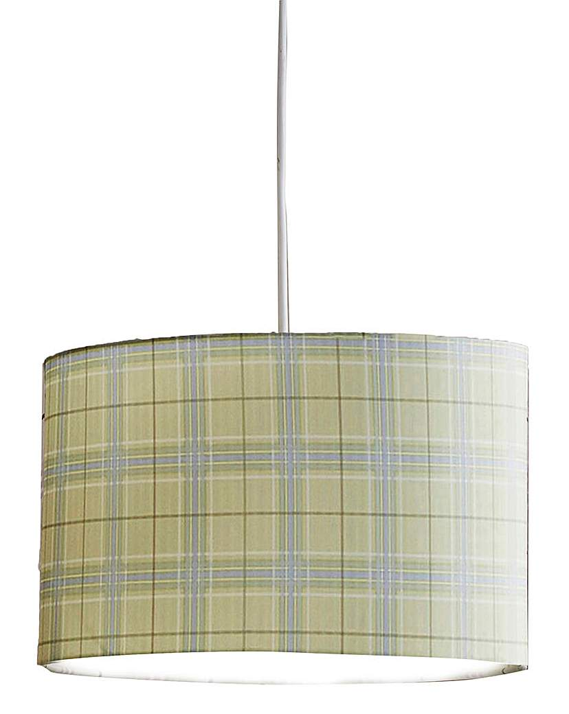 Country Check Pendant Shade