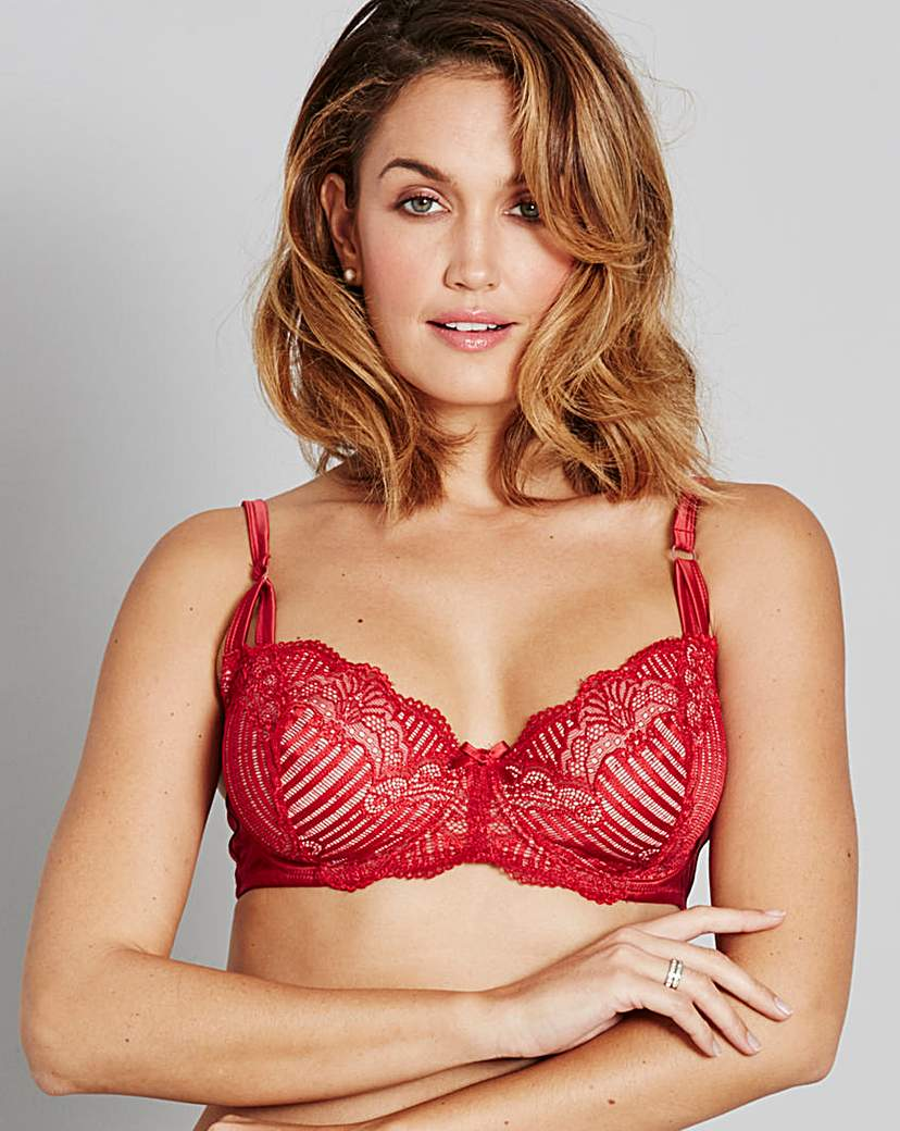 Jasmine Deco Red Lace Balcony Bra