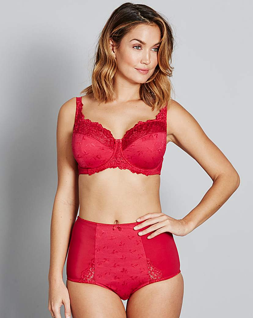 Ruby Full Cup Wired Red Bra.