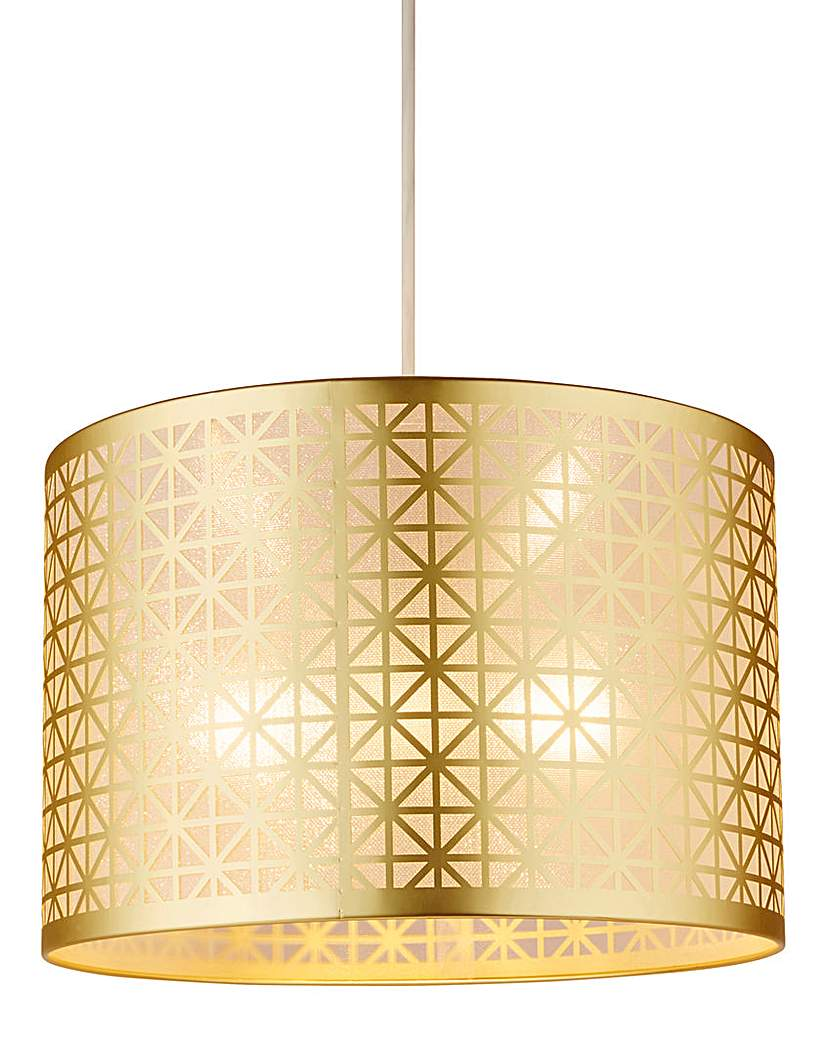 Bexley Gold Patterned Pendant