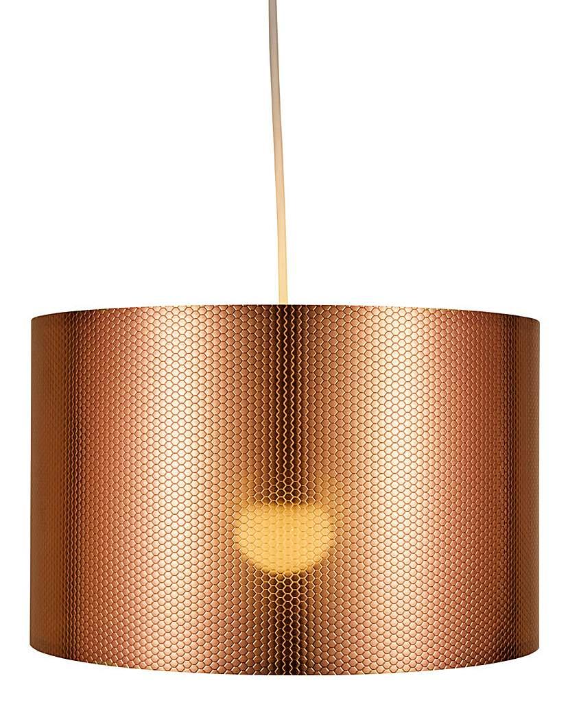 Copper Octagon Texture Pendant Shade