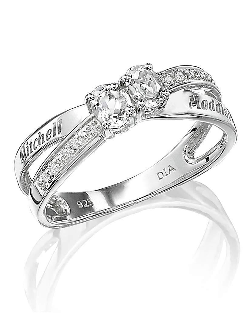 Precious Sentiments Two-Stone Ring
