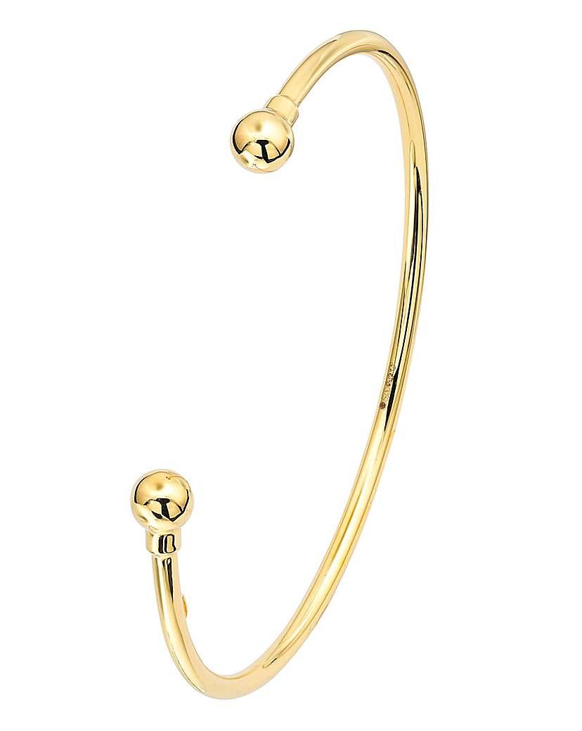 9 Carat Gold Torque Bangle