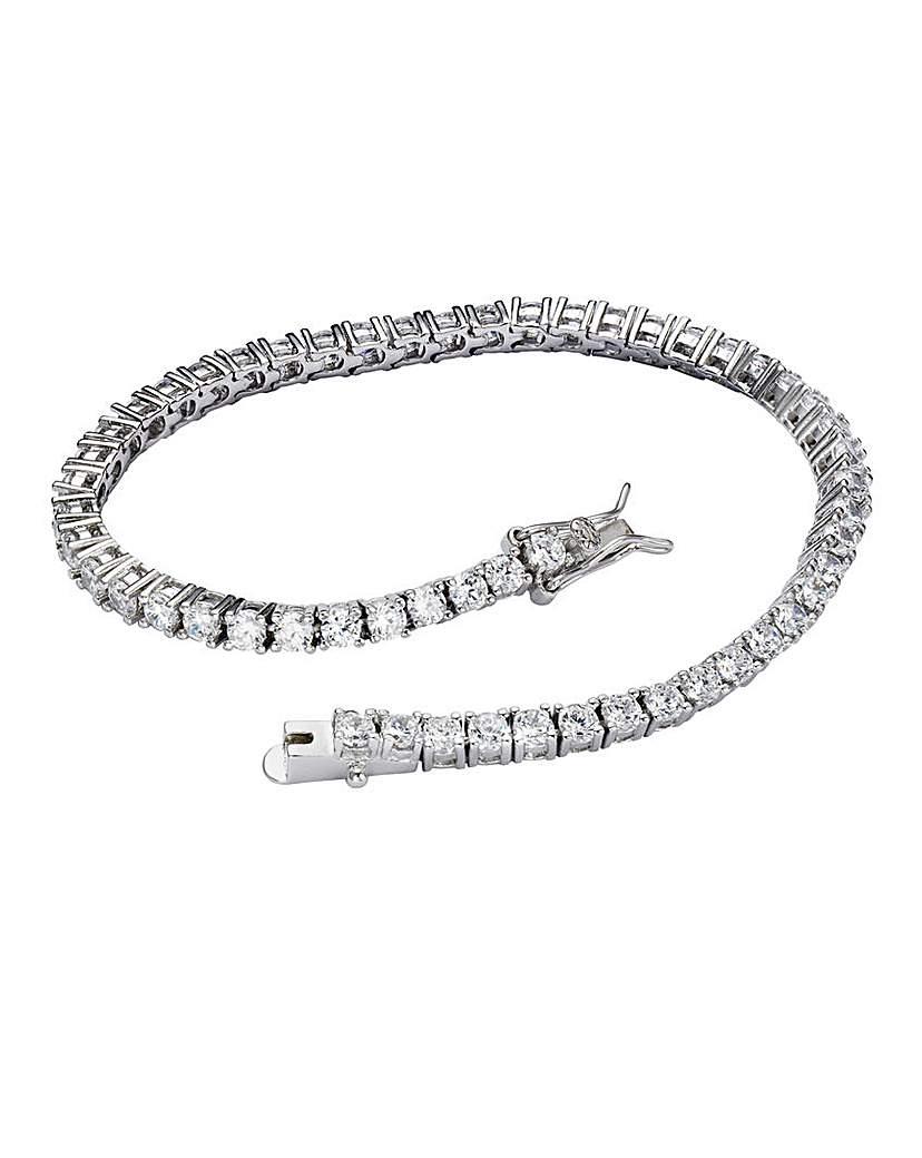 Image of Sterling Silver CZ Tennis Bracelet