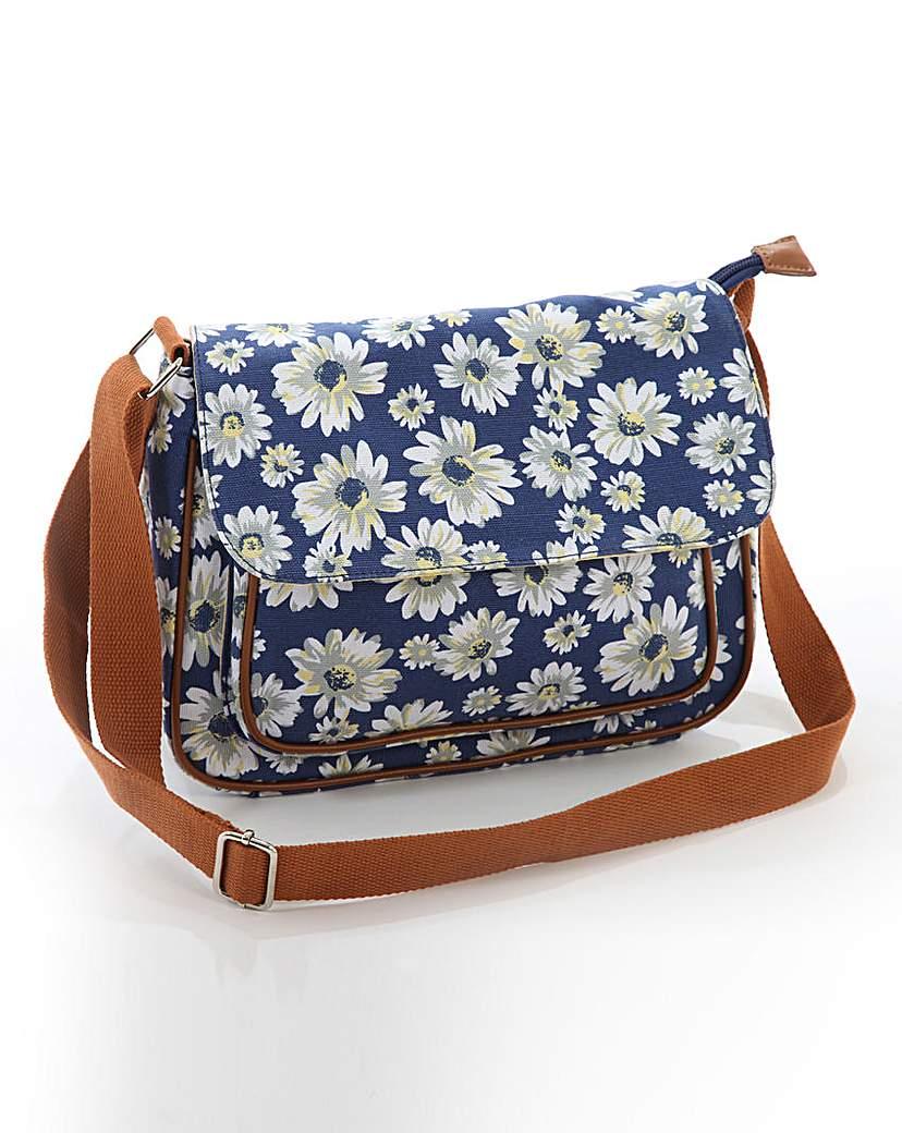 Daisy Canvas Satchel Handbag