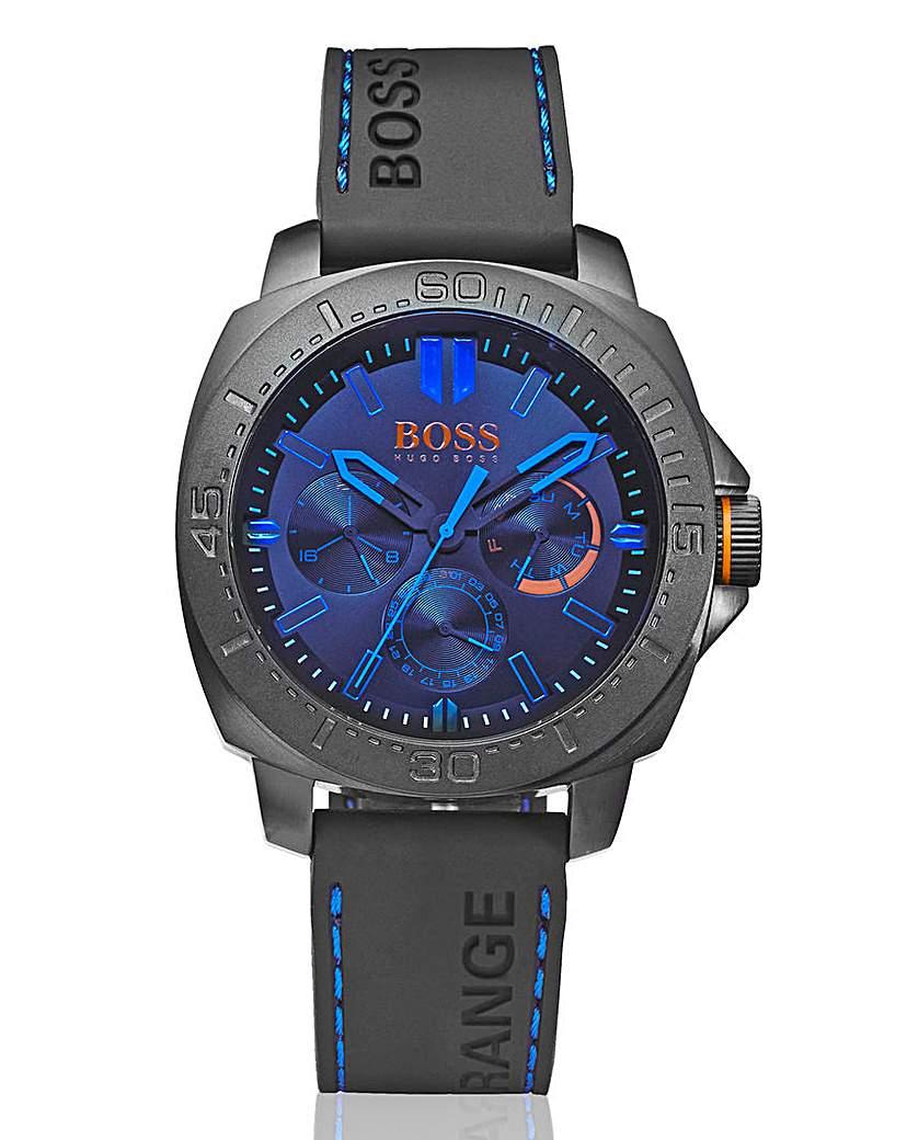 Boss Orange Gents Black Silicone Watch
