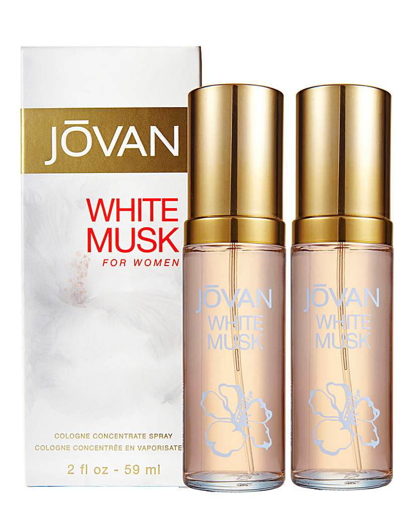 Image of Coty Jovan White Musk BOGOF 2 x 59ml EDC
