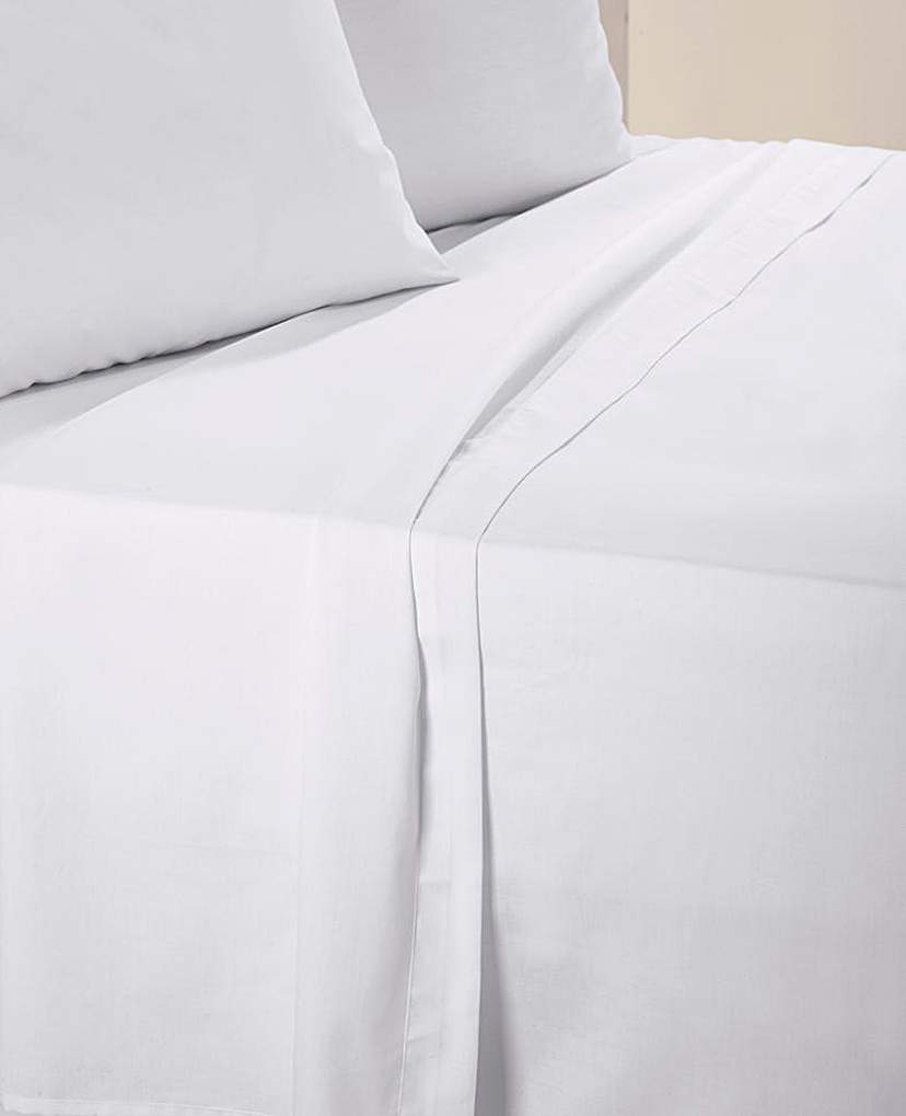 Image of Cotton Percale Flat Sheet