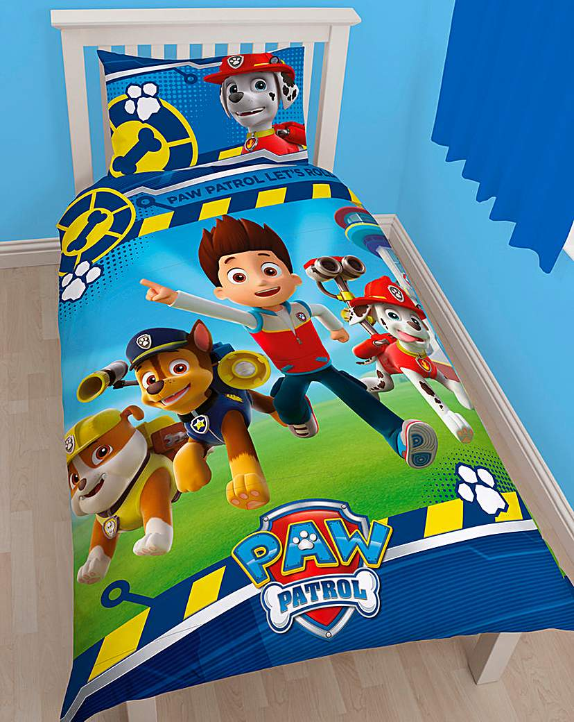 Image of Paw Patrol Panel Duvet Cover