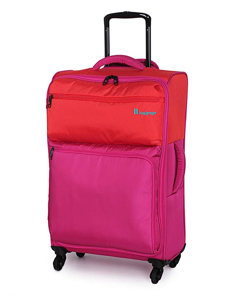 IT Luggage 61cm Medium Suitcase Fuchsia