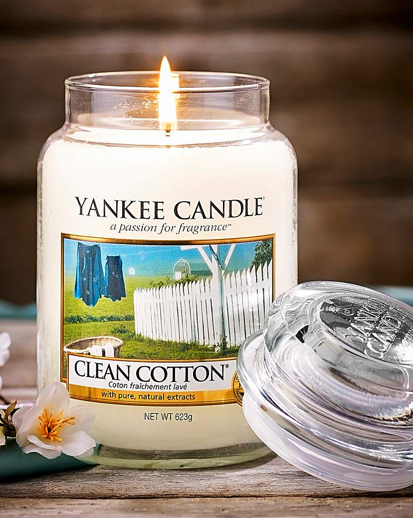 Image of Yankee Candle Clean Cotton Large Jar