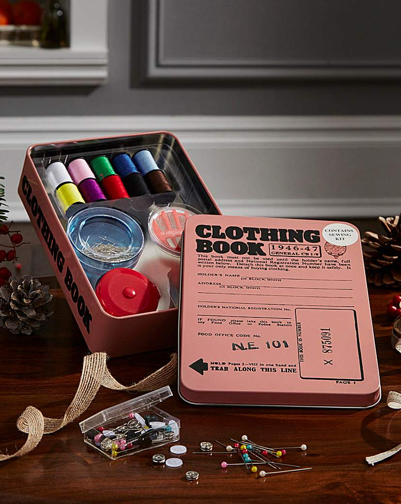 Image of Sewing Tin Ration Book Tin