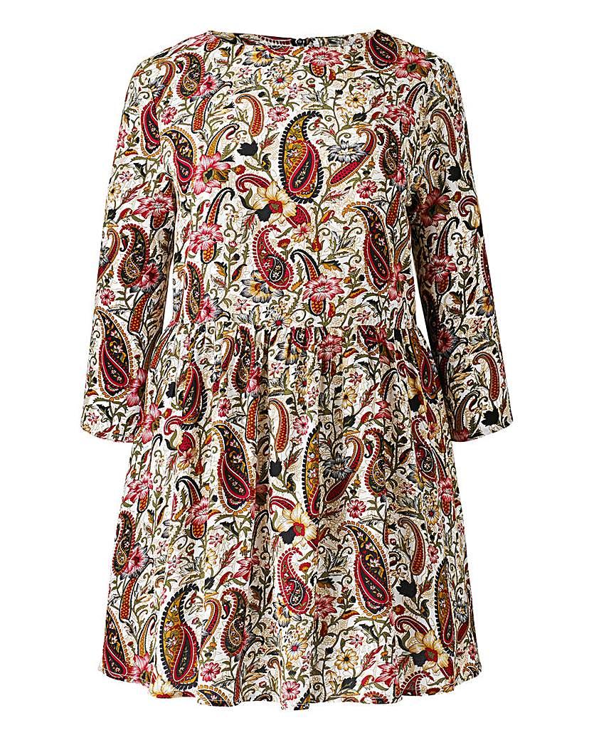 Image of Alice And You Paisley Print Tunic Dress