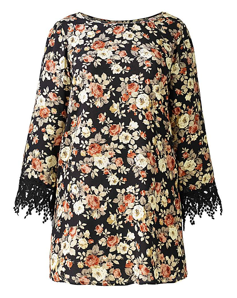 Image of Alice And You Print Lace Cuff Blouse