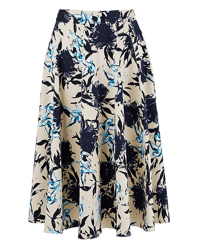 Image of Closet Bird Print Midi Skirt