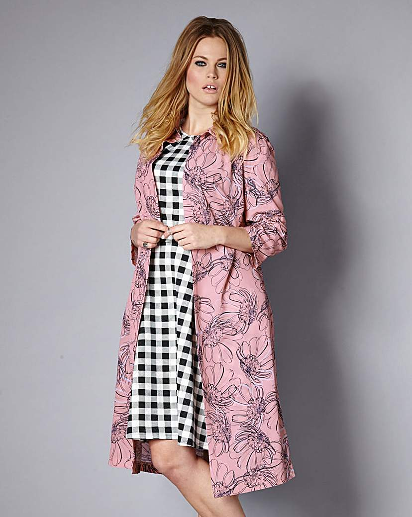 Image of Simply Be Unlined Duster Coat