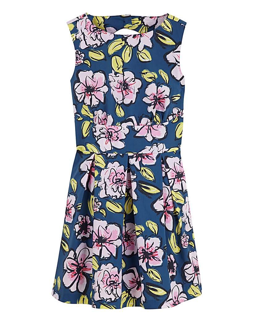 Image of Closet Floral Print Skater Dress