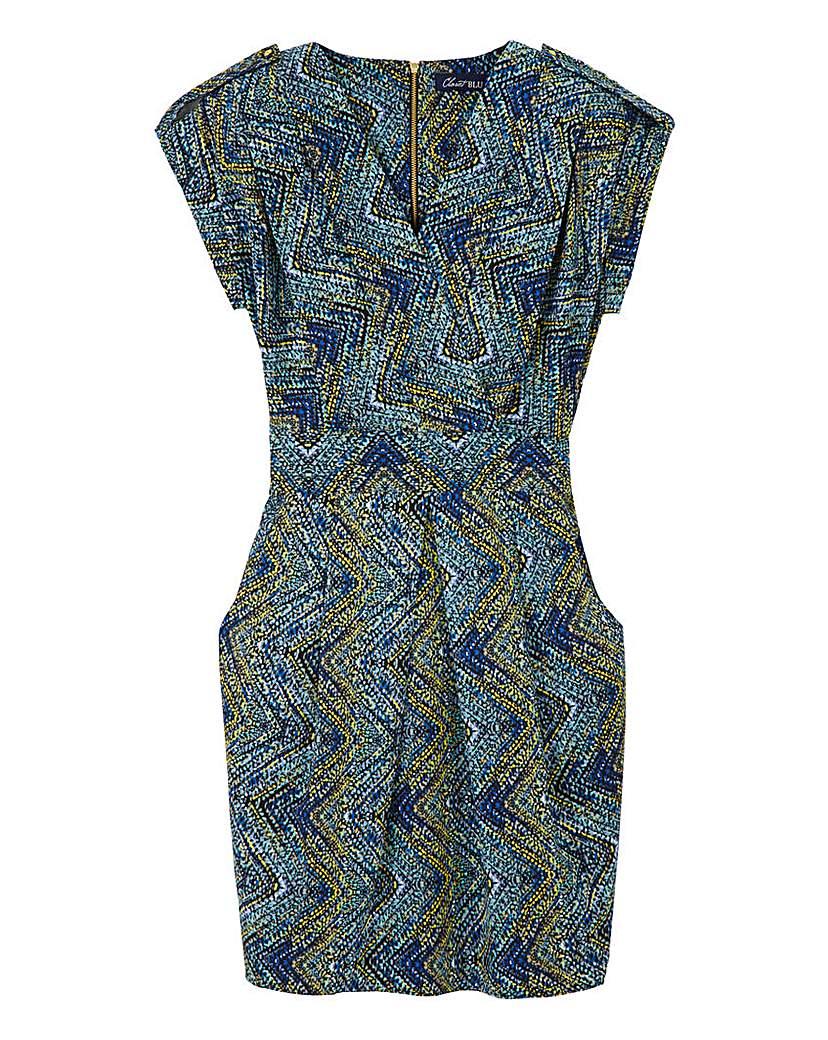 Closet Wrap Front Print Dress